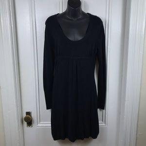 BCBGmaxazria long sleeve black sweater dress midi